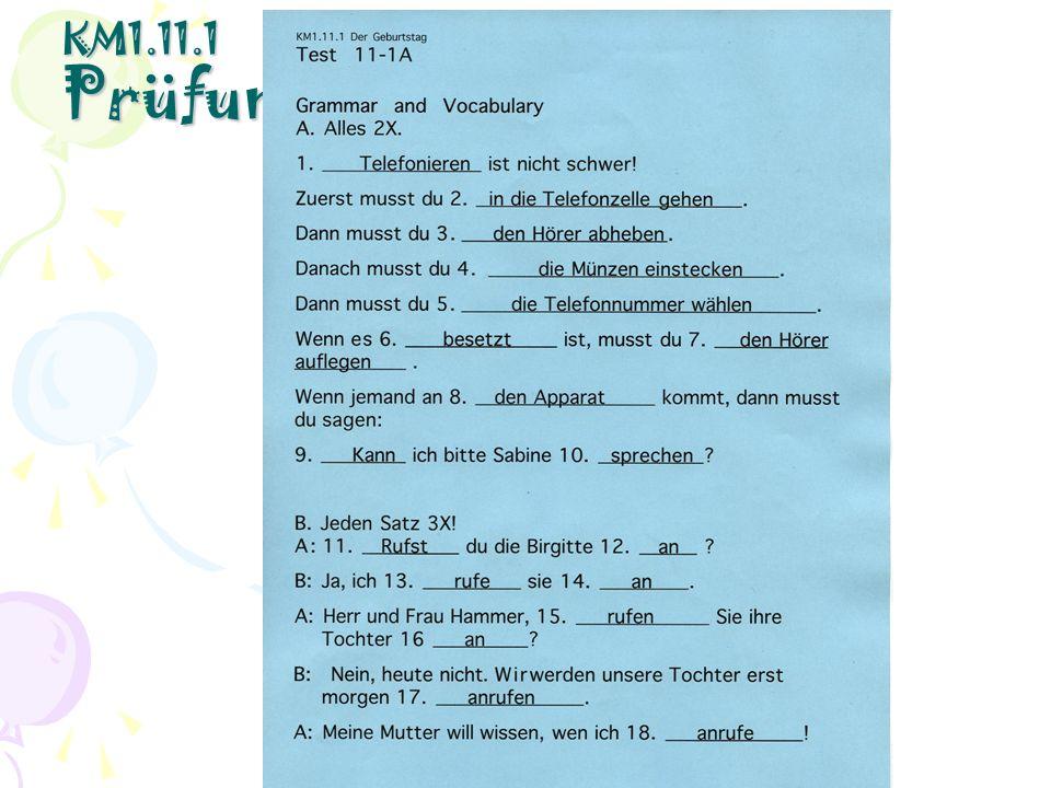 KM1.11.1 Prüfungskorrekturen