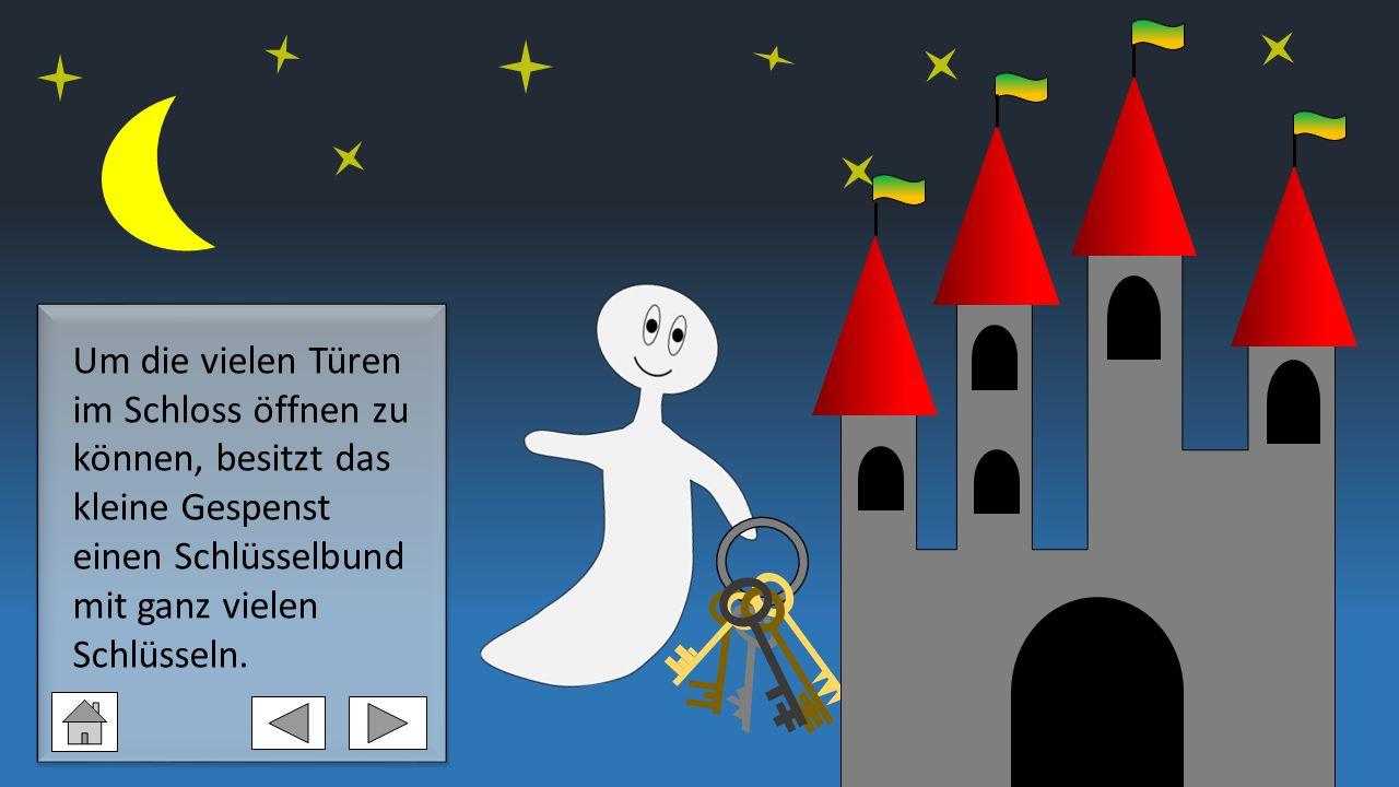 Doch eines Nachts verliert das kleine Gespenst alle seine Schlüssel im Schloss.