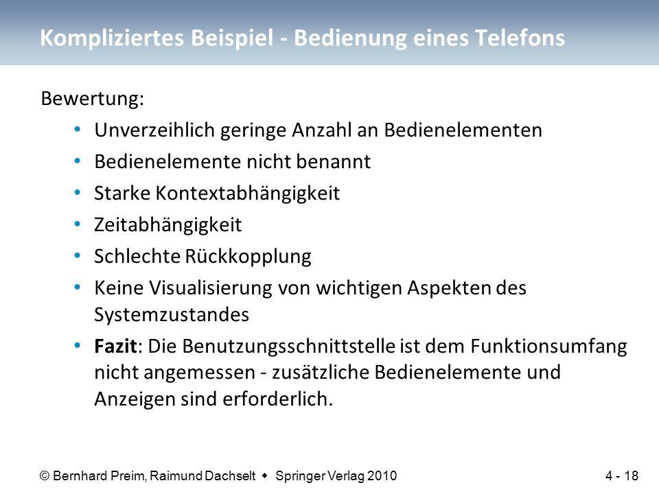© Bernhard Preim, Raimund Dachselt  Springer Verlag 2010 Bewertung: Unverzeihlich geringe Anzahl an Bedienelementen Bedienelemente nicht benannt Star
