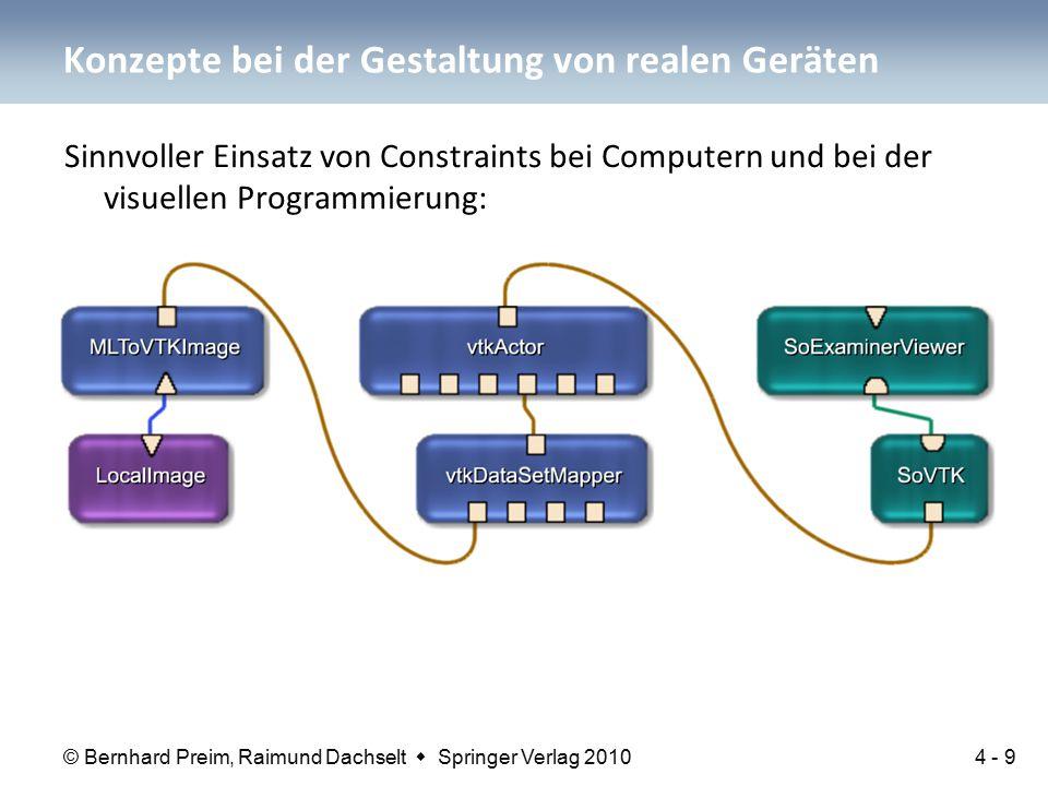 © Bernhard Preim, Raimund Dachselt  Springer Verlag 2010 Sinnvoller Einsatz von Constraints bei Computern und bei der visuellen Programmierung: Konze