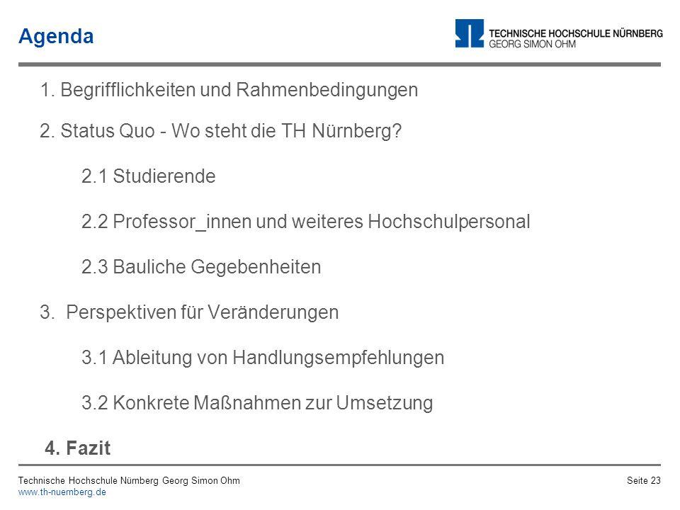 2 exemplarische Maßnahmen Maßnahme zur Beseitigung von Ungleichbehandlung Maßnahme zur Unfallvermeidung Technische Hochschule Nürnberg Georg Simon Ohm