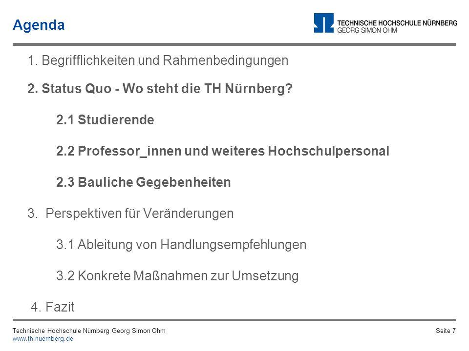 Technische Hochschule Nürnberg Georg Simon Ohm www.th-nuernberg.de Seite 6 Vielfalt Rechtliche Grundlagen Stereotypen, Vorurteile und Diskriminierunge