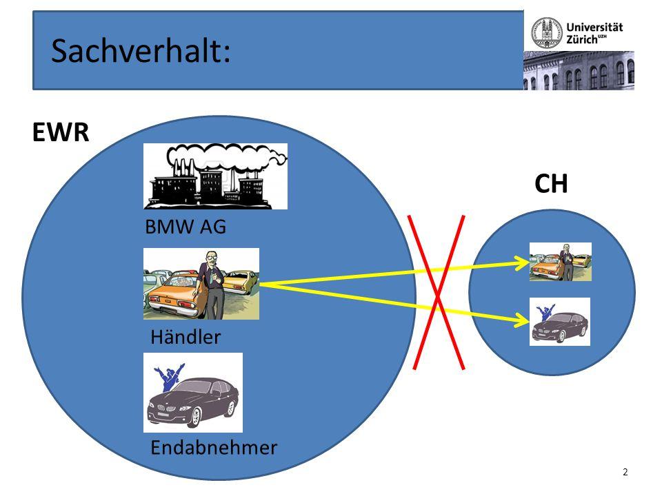 Sachverhalt: EWR BMW AG Händler Endabnehmer CH 2