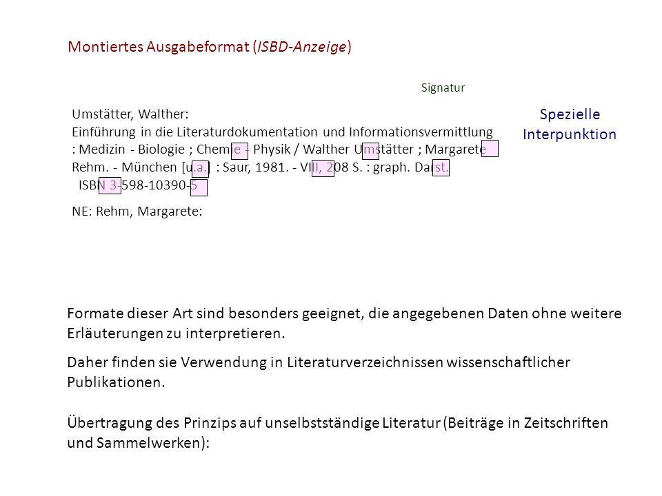 Umstätter, Walther: Einführung in die Literaturdokumentation und Informationsvermittlung : Medizin - Biologie ; Chemie - Physik / Walther Umstätter ;