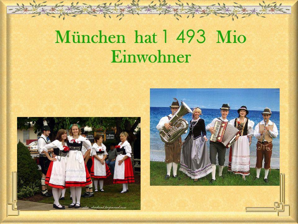 München hat 1 493 Mio Einwohner