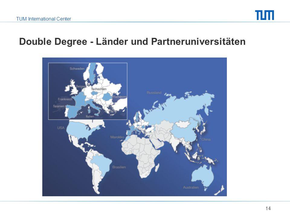 TUM International Center Double Degree - Länder und Partneruniversitäten 14