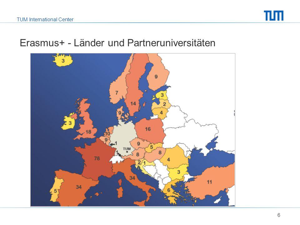 TUM International Center Europakarte einfügen, Länder markiert 17 ATHENS – Programm Netzwerk aus 24 europäischen techn.