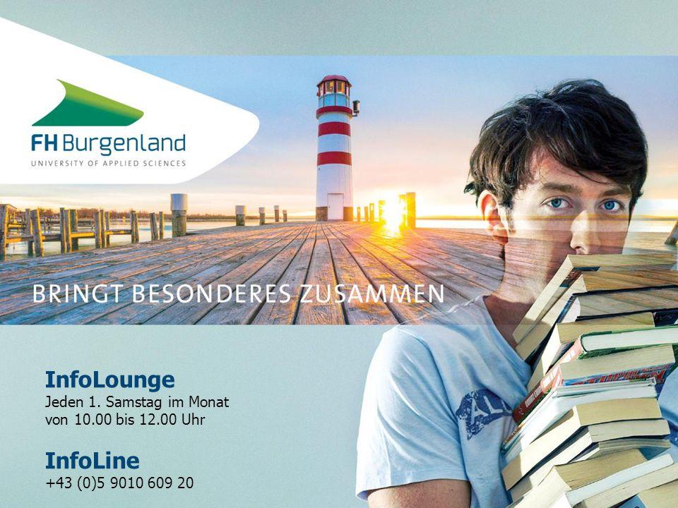 InfoLounge Jeden 1. Samstag im Monat von 10.00 bis 12.00 Uhr InfoLine +43 (0)5 9010 609 20