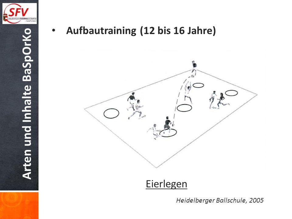 Arten und Inhalte BaSpOrKo Aufbautraining (12 bis 16 Jahre) Eierlegen Heidelberger Ballschule, 2005