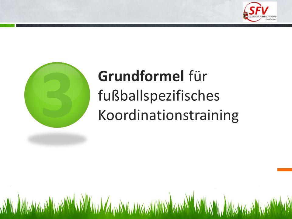 3 Grundformel für fußballspezifisches Koordinationstraining
