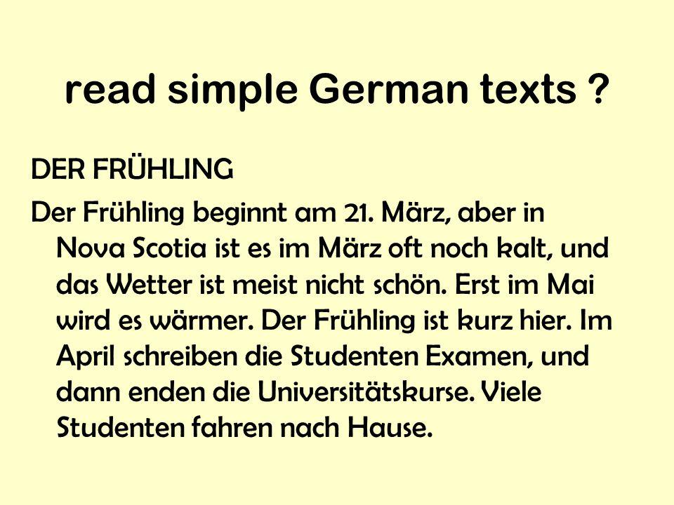 recognize German spelling ? Deutschland Europa Kanada