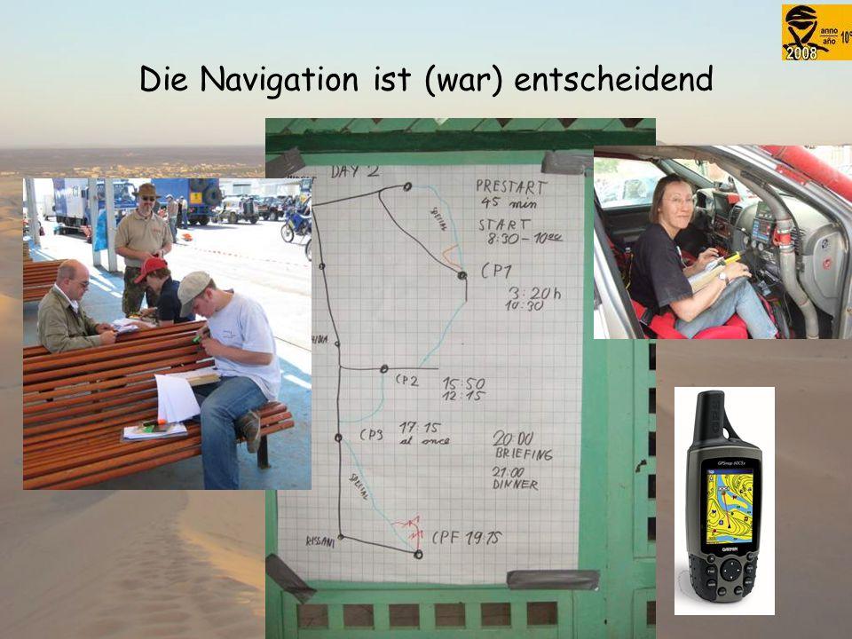 Die Navigation ist (war) entscheidend