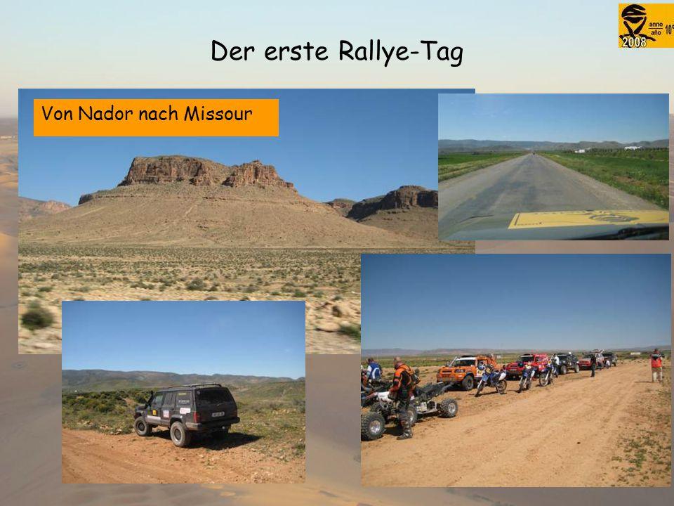 Der erste Rallye-Tag Von Nador nach Missour