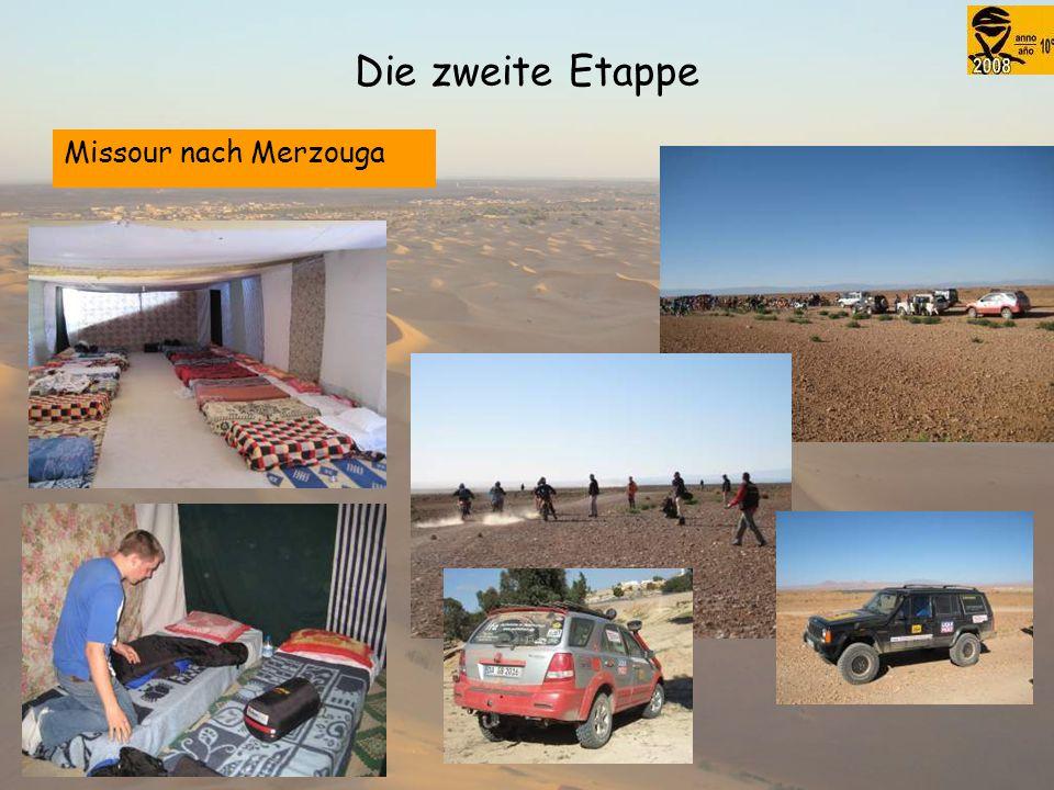 Die zweite Etappe Missour nach Merzouga