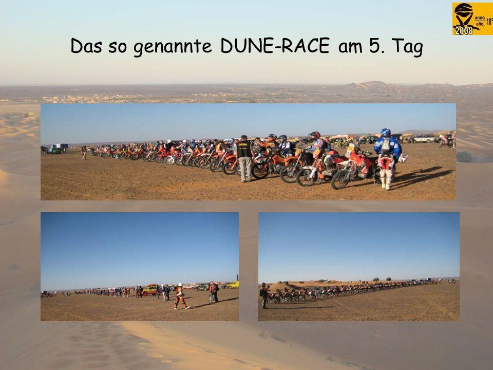 Das so genannte DUNE-RACE am 5. Tag