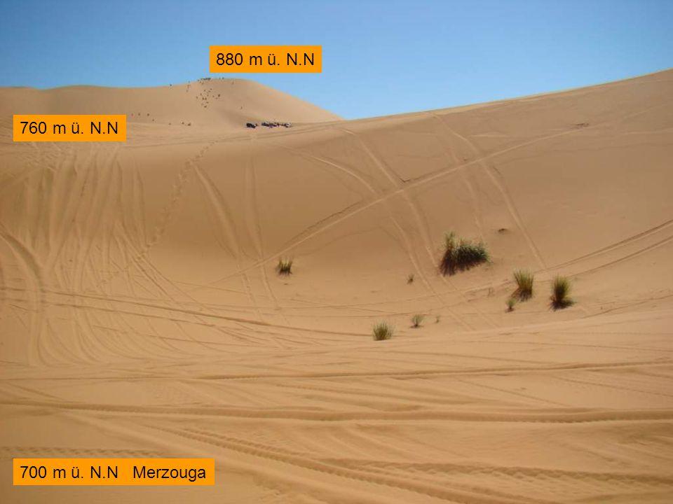 700 m ü. N.N Merzouga 760 m ü. N.N 880 m ü. N.N