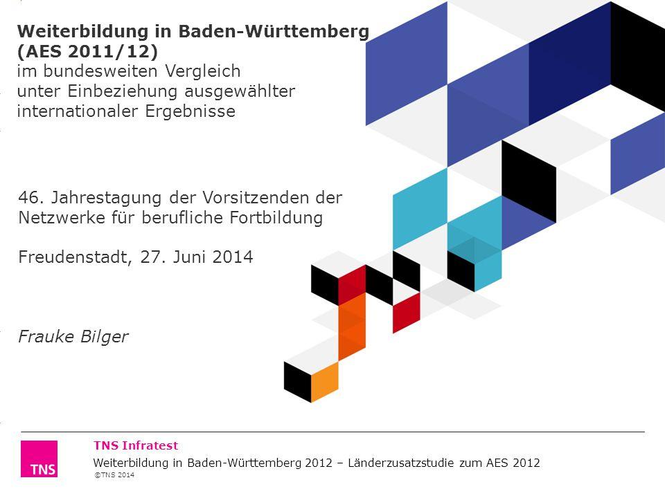 ©TNS 2014 3.14 X AXIS 6.65 BASE MARGIN 5.95 TOP MARGIN 4.52 CHART TOP 11.90 LEFT MARGIN 11.90 RIGHT MARGIN TNS Infratest Weiterbildung in Baden-Württe