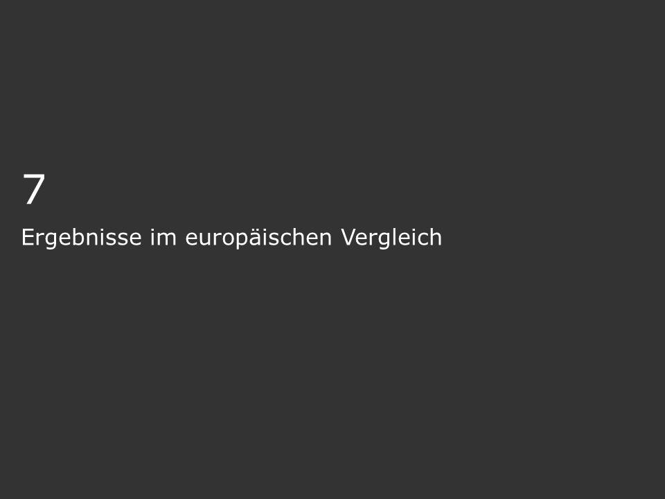 7 Ergebnisse im europäischen Vergleich
