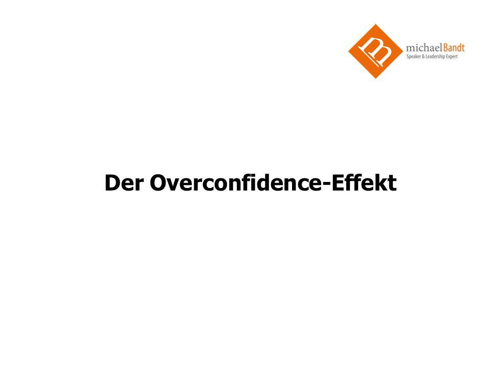 Der Overconfidence-Effekt