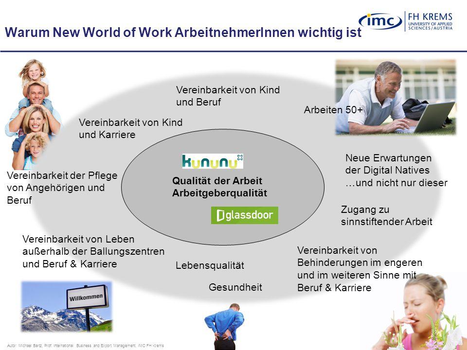 15 Warum New World of Work ArbeitnehmerInnen wichtig ist Autor: Michael Bartz, Prof.