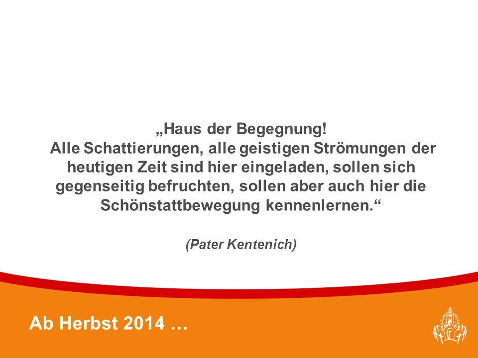 """Textmasterformate durch Klicken bearbeiten 18 Ab Herbst 2014 … """"Haus der Begegnung."""