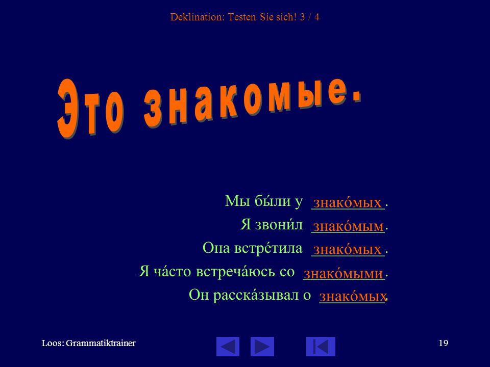 Loos: Grammatiktrainer19 Deklination: Testen Sie sich.