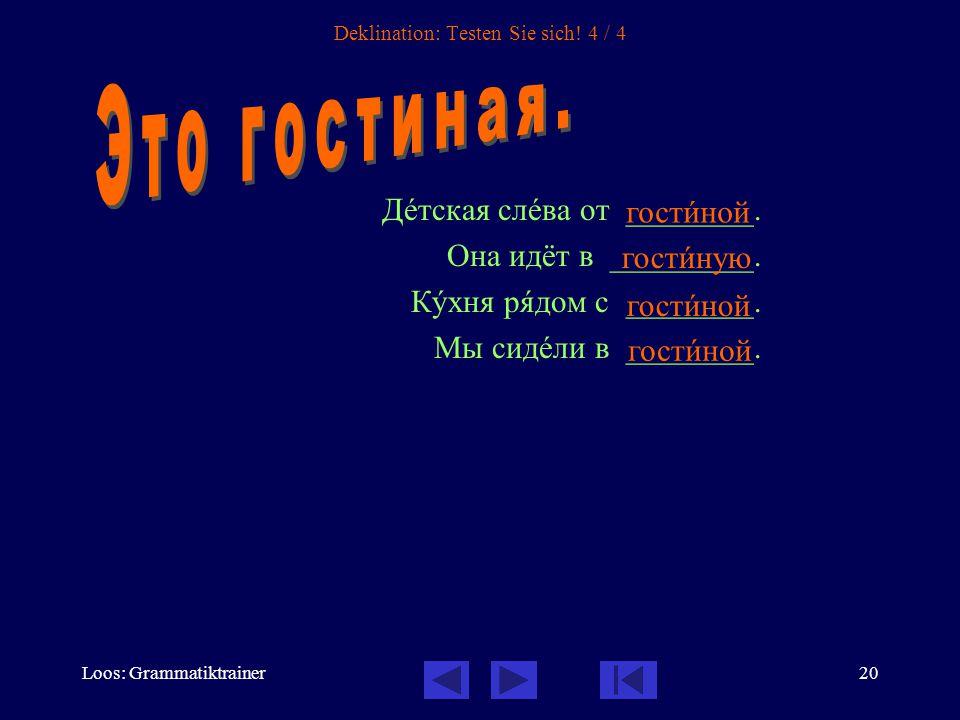Loos: Grammatiktrainer20 Deklination: Testen Sie sich.