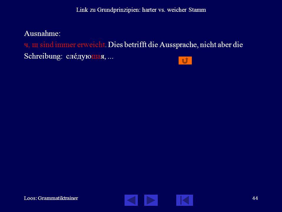 Loos: Grammatiktrainer44 Link zu Grundprinzipien: harter vs.