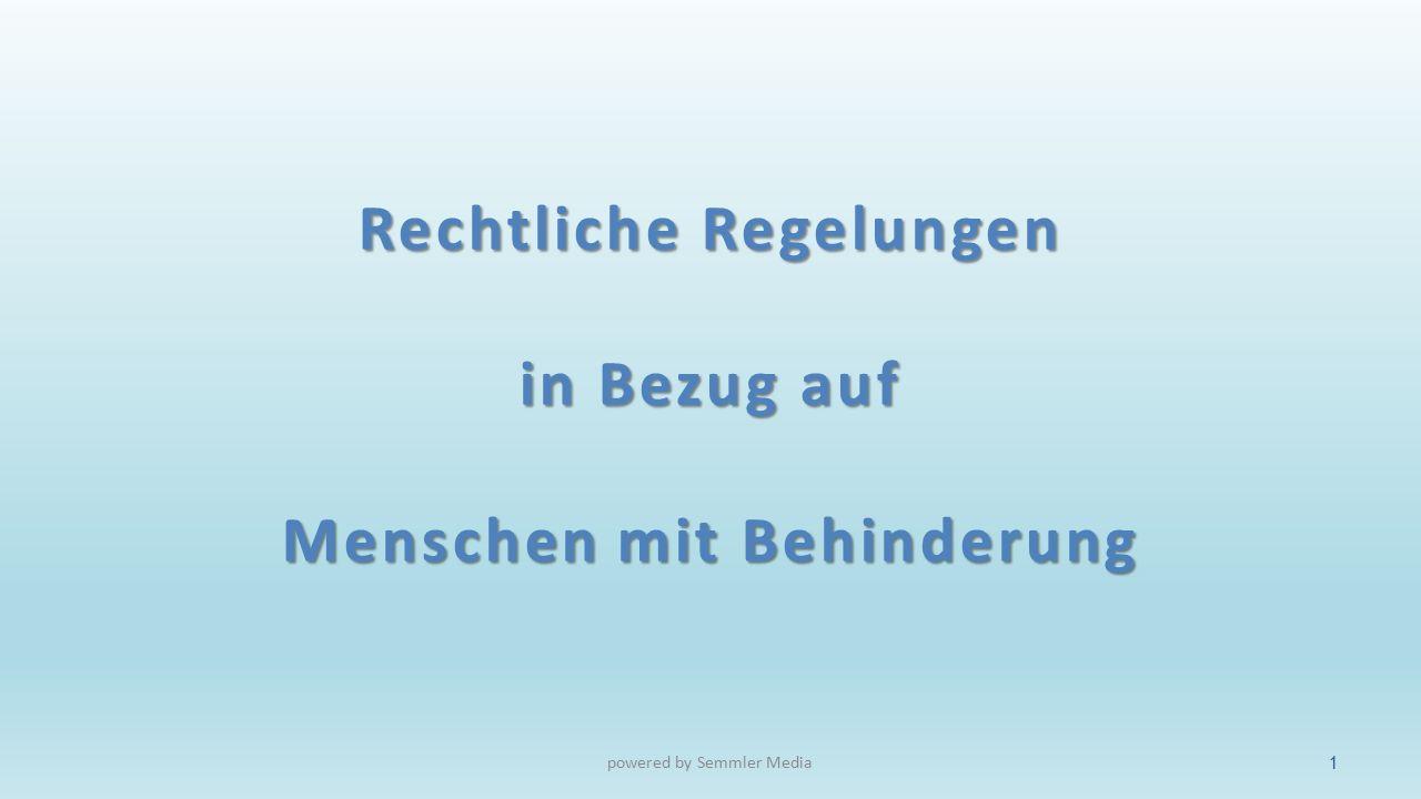 UN-Behindertenkonvention und Inklusion powered by Semmler Media12
