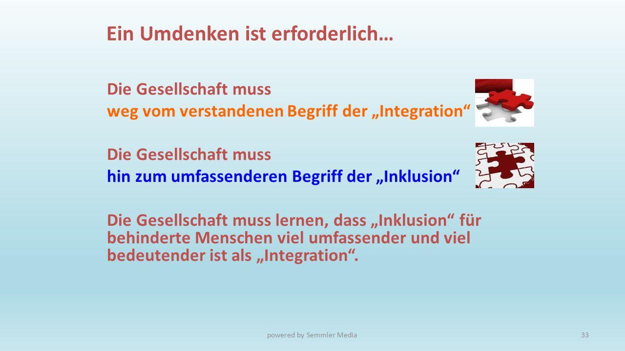 """Die Gesellschaft muss weg vom verstandenen Begriff der """"Integration"""" Die Gesellschaft muss hin zum umfassenderen Begriff der """"Inklusion"""" Die Gesellsch"""