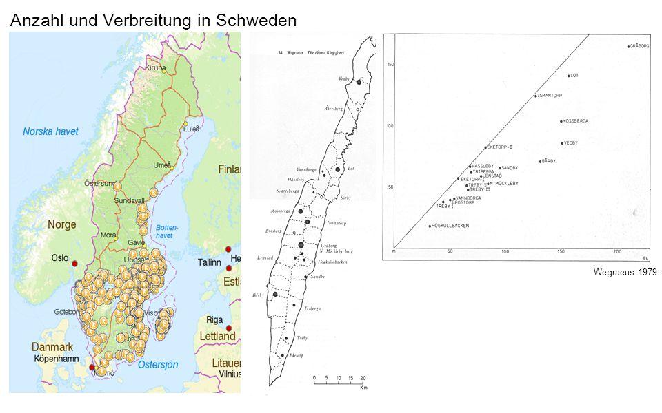 Anzahl und Verbreitung in Schweden Wegraeus 1979.