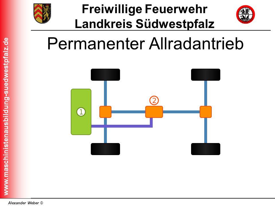 Alexander Weber © Freiwillige Feuerwehr Landkreis Südwestpfalz www.maschinistenausbildung-suedwestpfalz.de Permanenter Allradantrieb