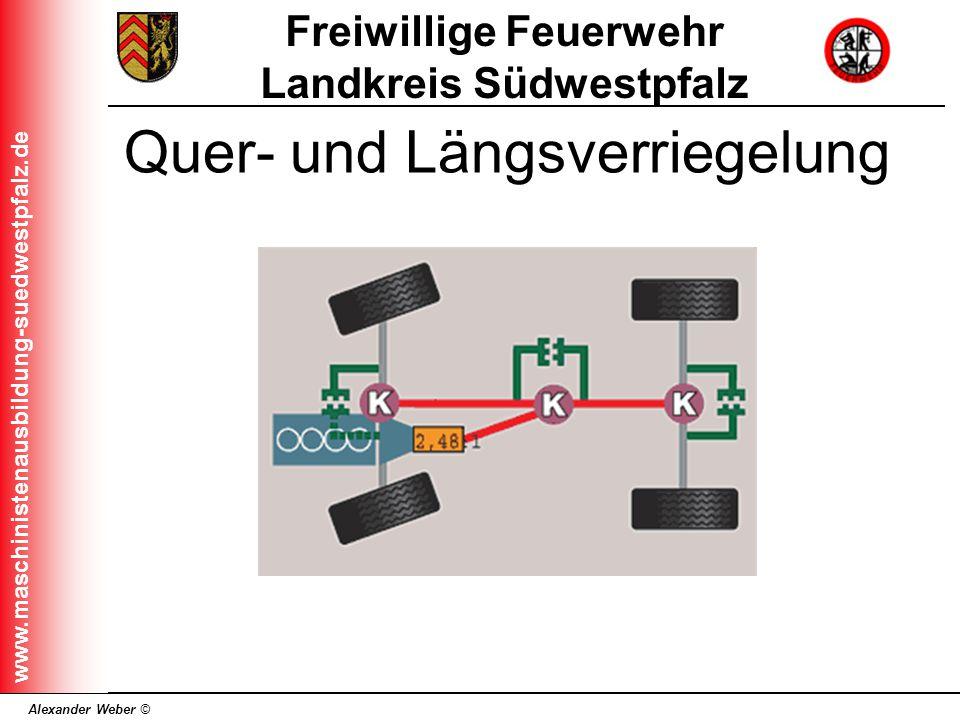 Alexander Weber © Freiwillige Feuerwehr Landkreis Südwestpfalz www.maschinistenausbildung-suedwestpfalz.de Quer- und Längsverriegelung
