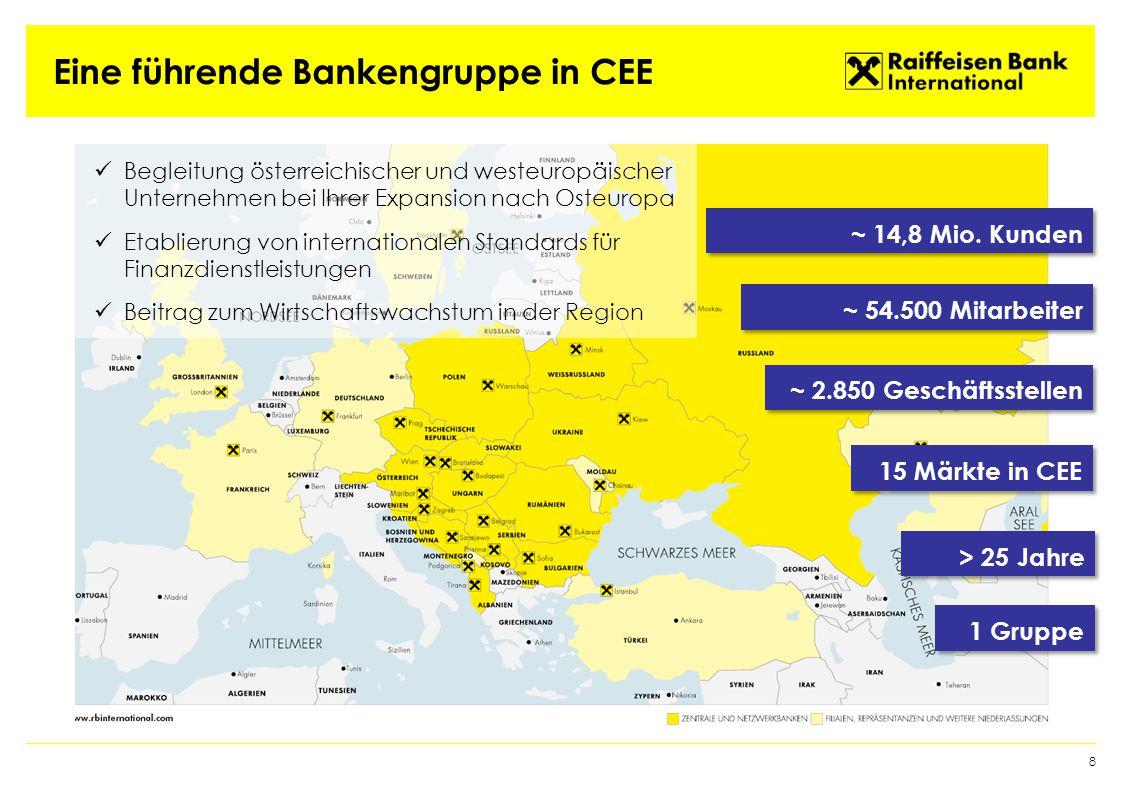 Aktuelle Rahmenbedingungen 9  Schwieriges geopolitisches Umfeld  Konfliktherd Ukraine  Entwicklungen in Russland  Strengere regulatorische Rahmenbedingungen (Basel III)  Zunehmender Kostendruck  Moderater makroökonomischer Ausblick  Konsolidierung  Fokussierung auf attraktive Märkte & Geschäftssegmente  Kostenreduktion und Effizienzsteigerung  Ausschöpfung des großen Potentials unserer Kundenbeziehungen sowie unserer starken Präsenz und unseres Know-How's in CEE Herausforderungen Fokus