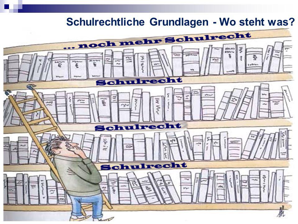 Schulrechtliche Grundlagen - Wo steht was?