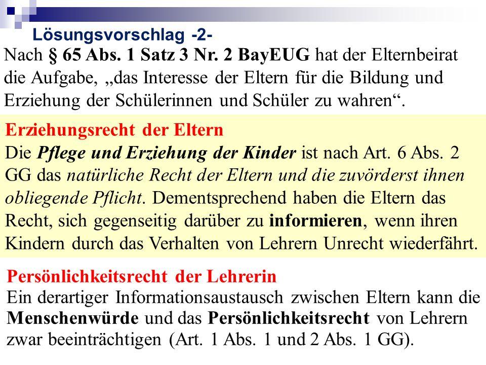 Nach § 65 Abs.1 Satz 3 Nr.
