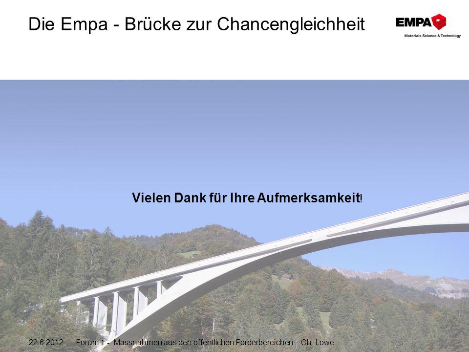 Die Empa - Brücke zur Chancengleichheit Vielen Dank für Ihre Aufmerksamkeit .