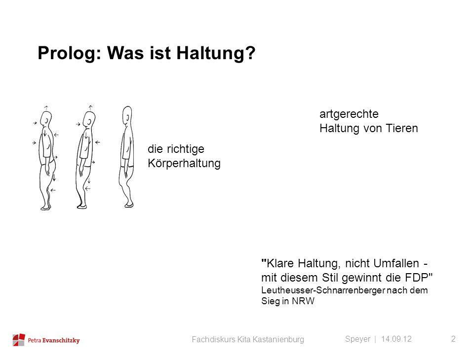 Prolog: Was ist Haltung? Speyer | 14.09.12 artgerechte Haltung von Tieren die richtige Körperhaltung