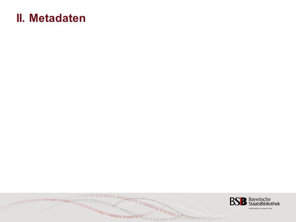 II. Metadaten
