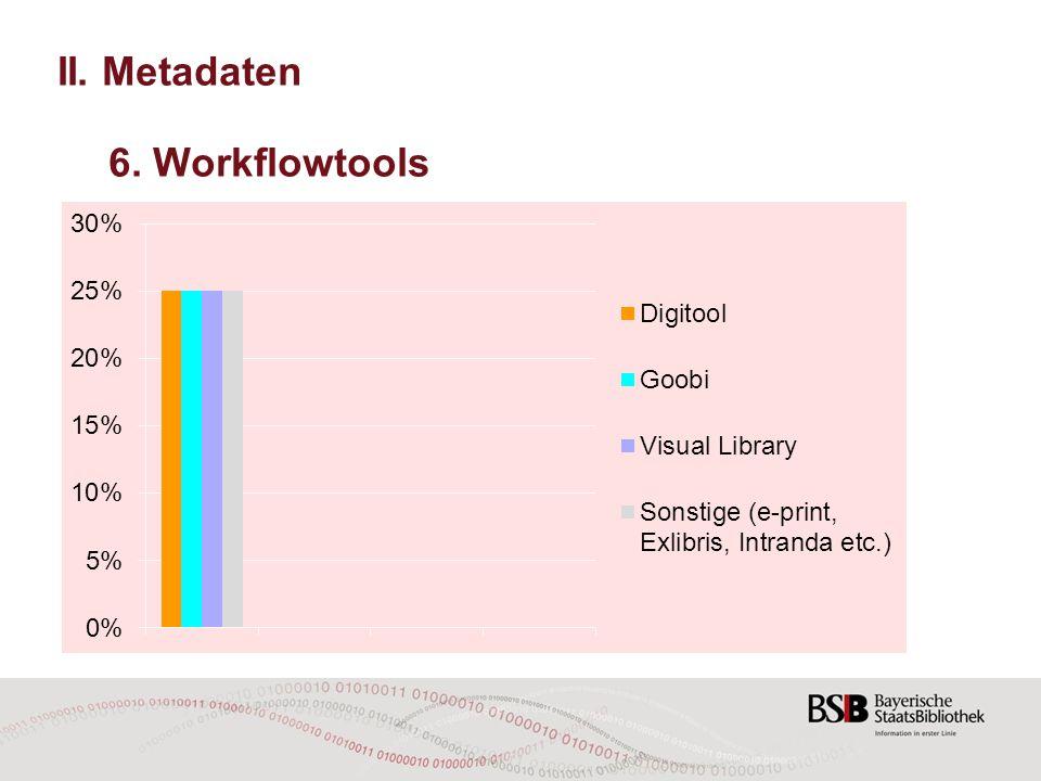 II. Metadaten 6. Workflowtools