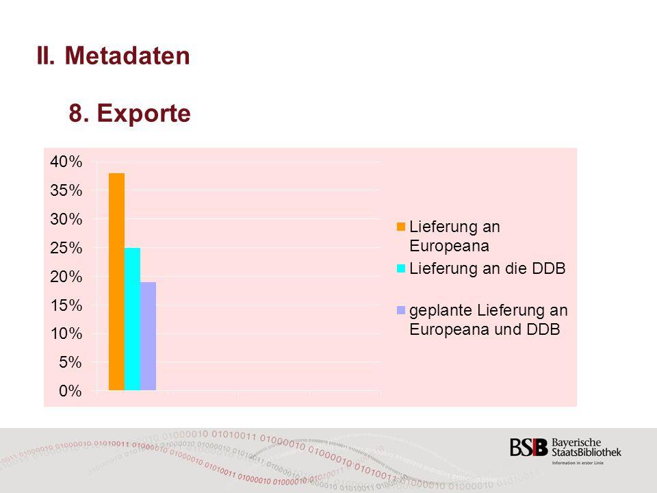 II. Metadaten 8. Exporte