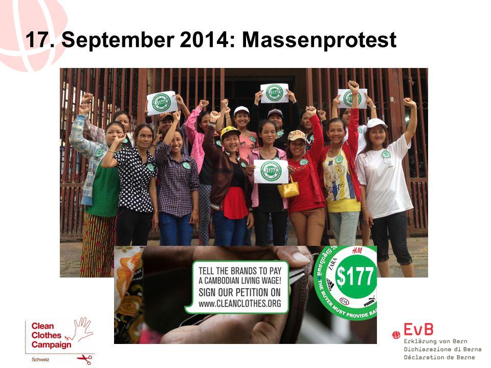 17. September 2014: Massenprotest