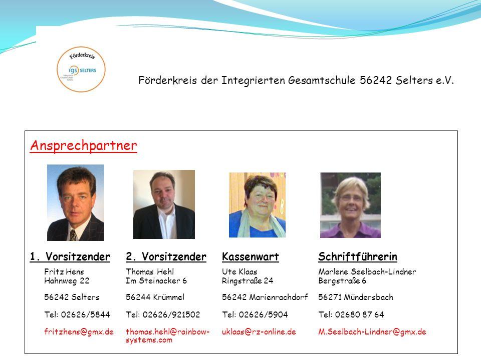 Förderkreis der Integrierten Gesamtschule 56242 Selters e.V. Beispiele unserer Förderung: