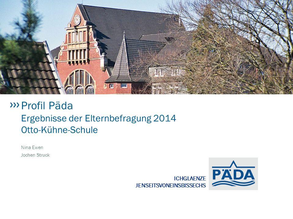 ICHGLAENZE JENSEITSVONEINSBISSECHS Profil Päda Ergebnisse der Elternbefragung 2014 Otto-Kühne-Schule Nina Ewen Jochen Struck