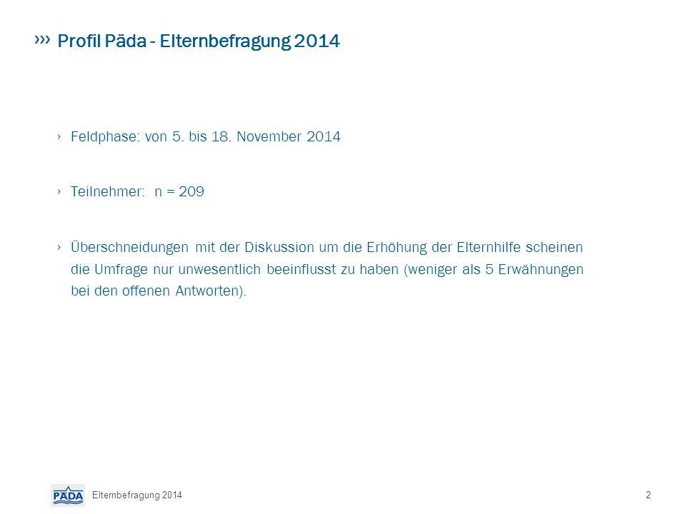 Profil Päda - Elternbefragung 2014 › Feldphase: von 5.