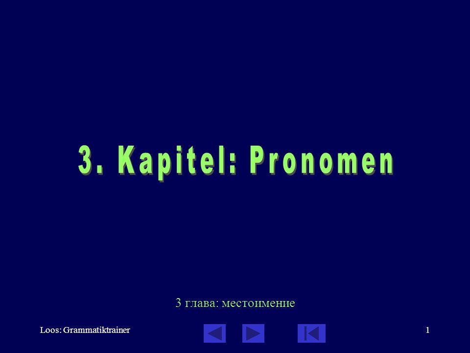 Loos: Grammatiktrainer1 3 глава: местоимение
