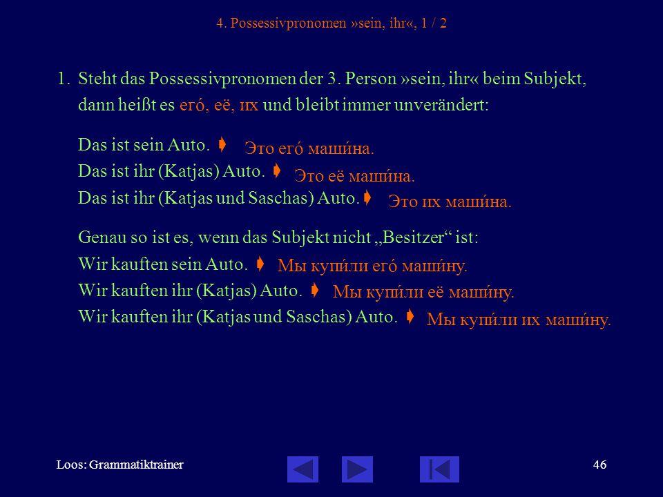 Loos: Grammatiktrainer46 4.