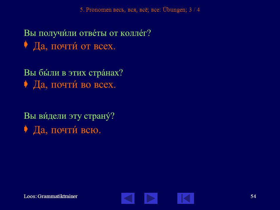 Loos: Grammatiktrainer54 5.