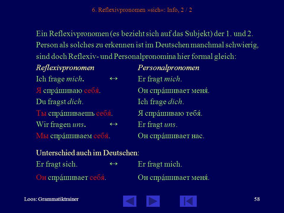 Loos: Grammatiktrainer58 6.