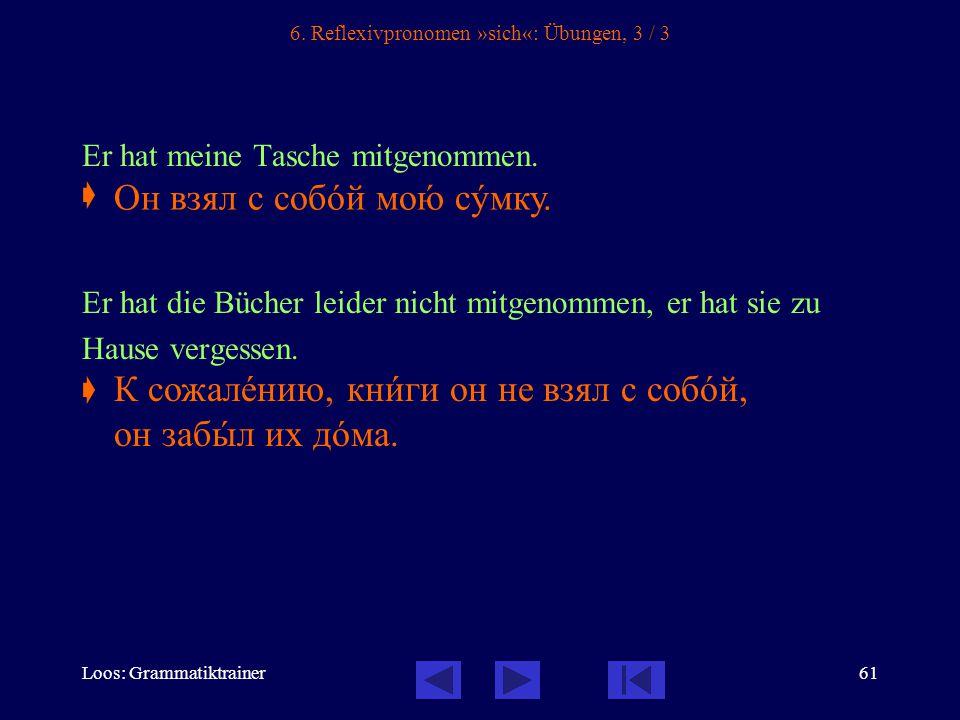 Loos: Grammatiktrainer61 6.